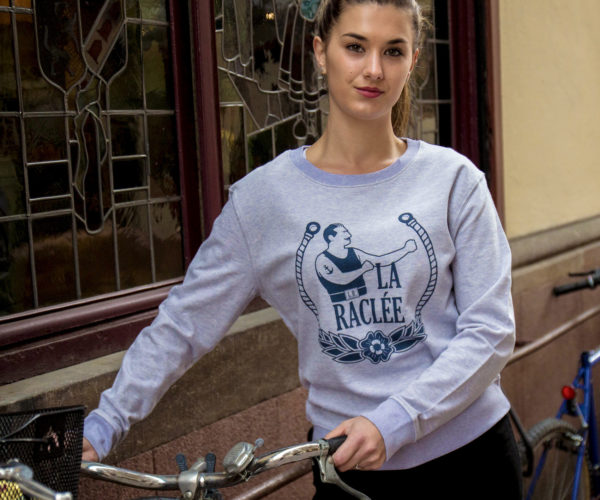 Sweat shirt femme en velo à Strasbourg